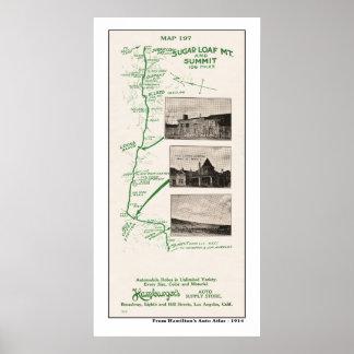 1914 Map, Sugar Loaf Mt to Hot Creek Range Poster