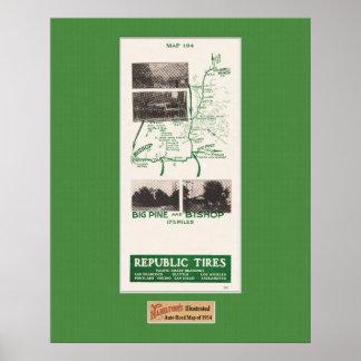 1914 mapa, el rancho de Gilbert al obispo, pino gr Posters