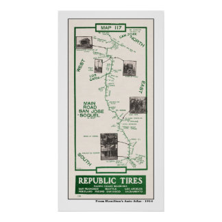 1914 mapa, San Jose a Soquel Impresiones