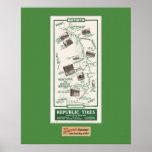 1914 mapa, Santa Barbara a Ventura Poster