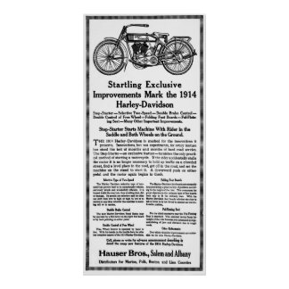 1914 MOTORCYCLE POSTER
