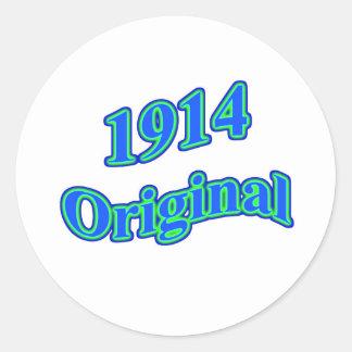 1914 Original Blue Green Round Sticker