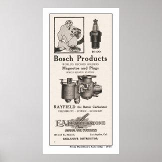 1914 piezas de automóvil del anuncio - Bosch Impresiones