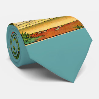 1914 two dogs being curious neck tie