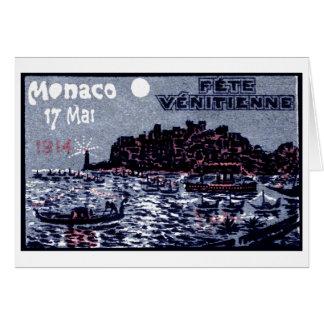 1914 Venetian Festival of Monaco Card