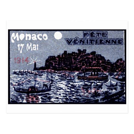 1914 Venetian Festival of Monaco Postcard