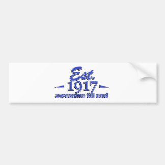 1915 1birthday designs bumper sticker