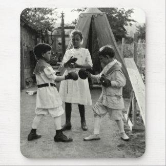 1915 Backyard Boxing Match Mouse Pad