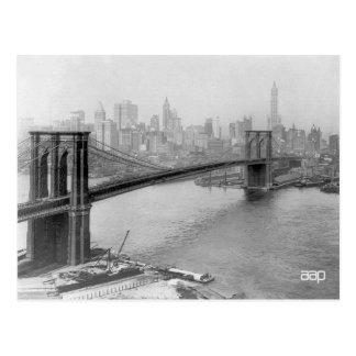 1915 Brooklyn Bridge and Manhattan New York City Postcard