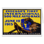 1915 Chicago Auto Racing Poster Cards