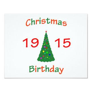 1915 Christmas Birthday Card