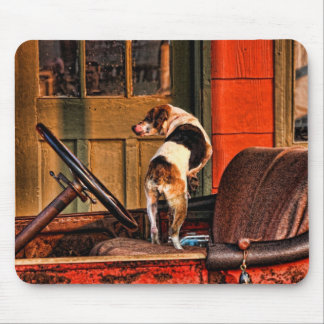 1915 DODGE AND DOG MOUSEPADS