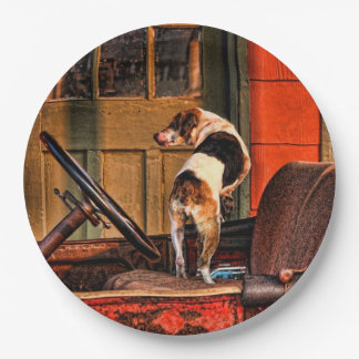 1915 DODGE AND DOG PAPER PLATE