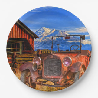 1915 DODGE AND MOUNT SHASTA PAPER PLATE