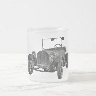 1915 DODGE (B&W) FROSTED GLASS COFFEE MUG