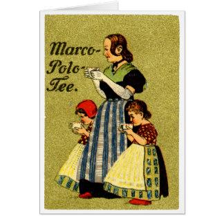 1915 Enjoy Marco Polo Tea Greeting Card