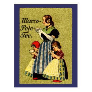 1915 Enjoy Marco Polo Tea Postcard