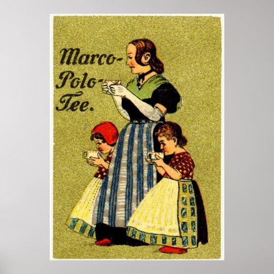 1915 Enjoy Marco Polo Tea Poster