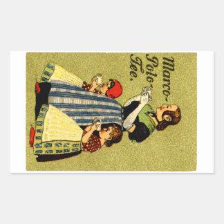 1915 Enjoy Marco Polo Tea Sticker