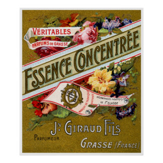 1915 Essence Concentree French perfume Poster