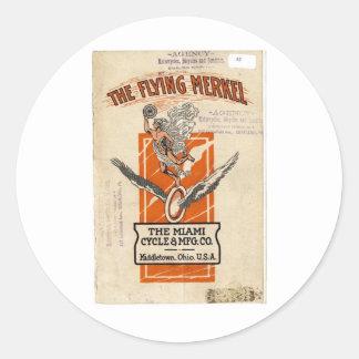 1915 FlyingMerkel Round Sticker