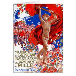 1915  Garibaldi Victory Poster Card