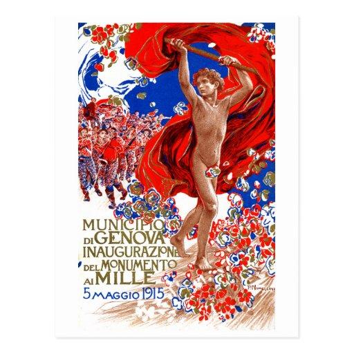 1915  Garibaldi Victory Poster Postcard