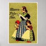 1915 goce del té de Marco Polo Poster