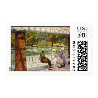 1915 Lily Pond, City Park, Denver, Colorado Postage