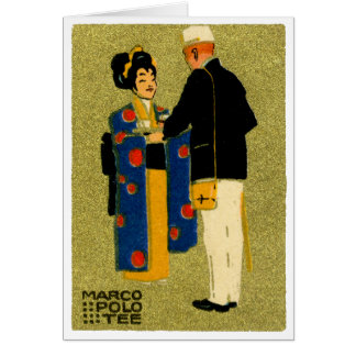 1915 Marco Polo Tea Greeting Card