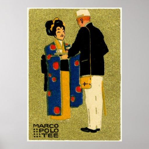 1915 Marco Polo Tea Poster