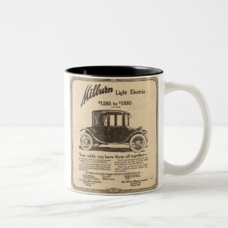 1915 Milburn Electric Car ad Two-Tone Coffee Mug