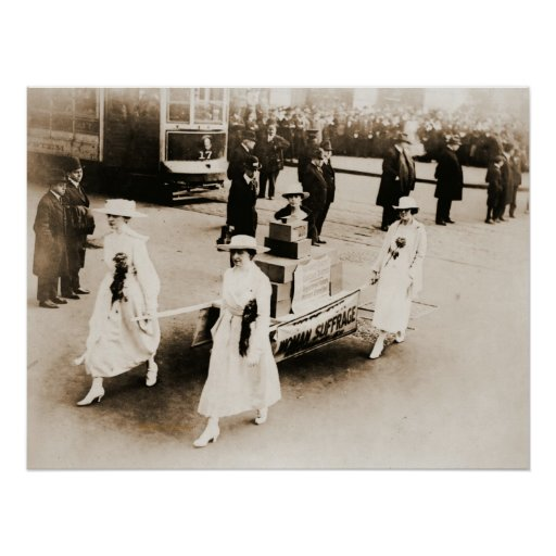 1915 New York City Suffrage Parade Print