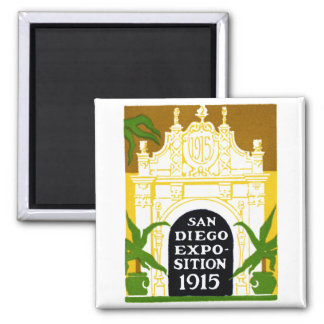 1915 San Diego Exposition 2 Inch Square Magnet