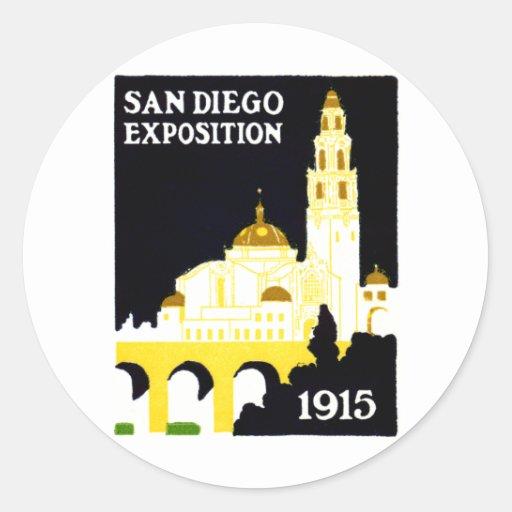 1915 San Diego Exposition Classic Round Sticker