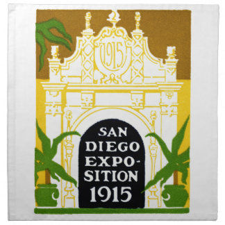 1915 San Diego Exposition Cloth Napkins