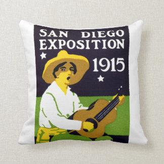 1915 San Diego Exposition Throw Pillows