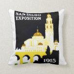 1915 San Diego Exposition Pillow