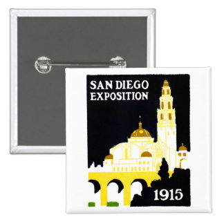 1915 San Diego Exposition Pinback Buttons