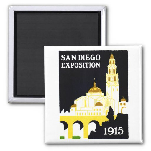 1915 San Diego Exposition Refrigerator Magnets