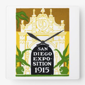 1915 San Diego Exposition Square Wall Clock