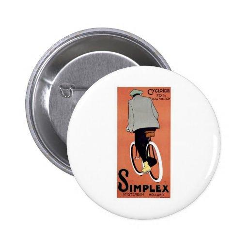 1915 Simplex Poster 2 Inch Round Button