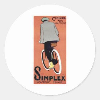 1915 Simplex Poster Round Sticker