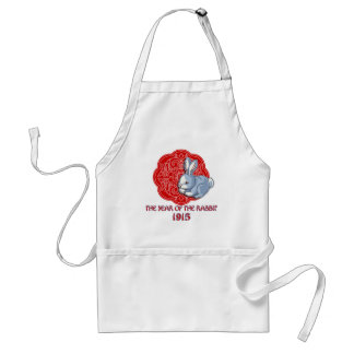 1915 The Year of the Rabbit Gifts Adult Apron