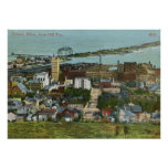 1915 View of Duluth, Minnesota Vintage Poster