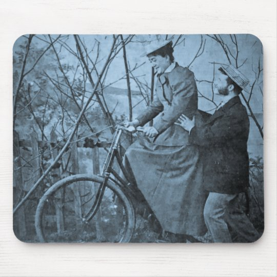 1915 Vintage Bicycle - You'll Do All Right Mouse Pad