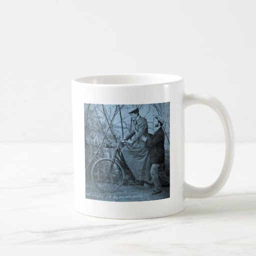 1915 Vintage Bicycle - You'll Do All Right Classic White Coffee Mug