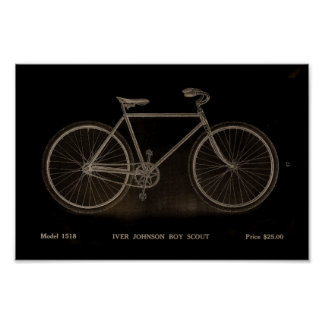 1915 Vintage Boy Scout Bicycle Ad Art Poster