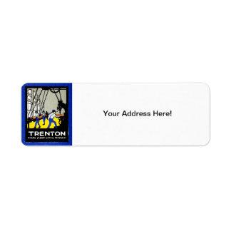 1915 Vintage Trenton New Jersey Custom Return Address Labels