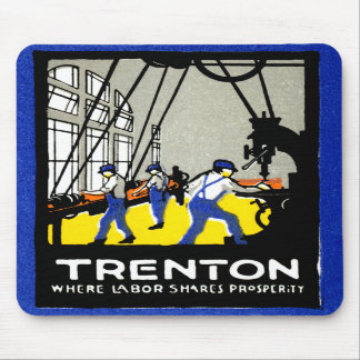 1915 Vintage Trenton New Jersey Mouse Pad